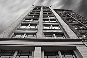 View of Jackson building from the ground.