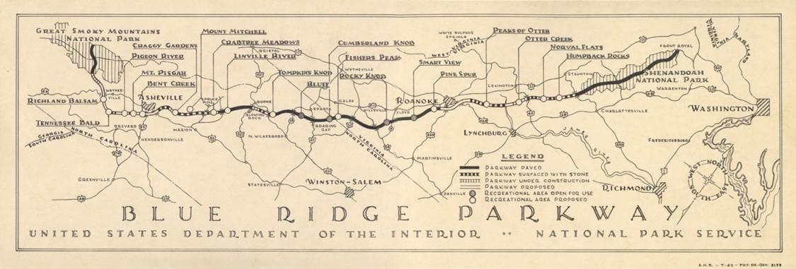 Blue Ridge Parkway Development History  The Preservation Society
